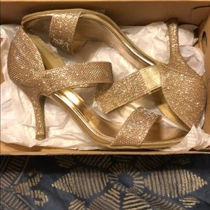 Unlisted by Kenneth Cole Champagne shoes. For prom